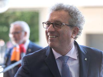 Le Ministre des Finances Pierre Gramegna arrive a la reunion Ecofin (R�union informelle des ministres de l��conomie et des finances) a Luxembourg, le 11 Septembre 2015. Photo: Chris Karaba