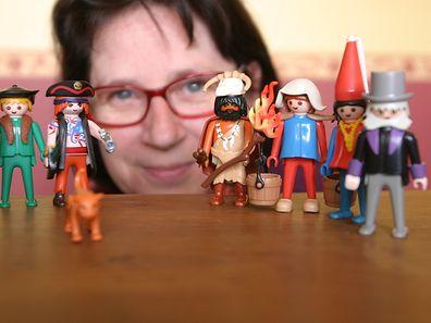 Anita Moretti collectionne les Playmobil et adore construire des dioramas.