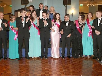 The 2014 Luxembourg Rose candidates at the Rose Ball