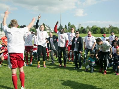 The Fola Esch players celebrate their victory