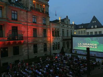 City Open Air Cinema 2013 outside the Grand-Ducal Palace