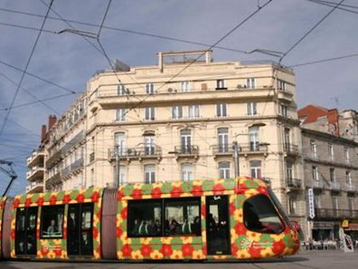 A tram in Montpellier