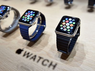 Apple Watches are seen on display during an Apple media event at the Yerba Buena Center for the Arts in San Francisco, California on March 09, 2015. AFP PHOTO / JOSH EDELSON