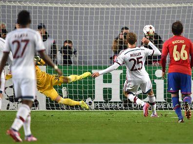 Thomas Müller erzielte in der 22.' das einzige Tor der Partie.