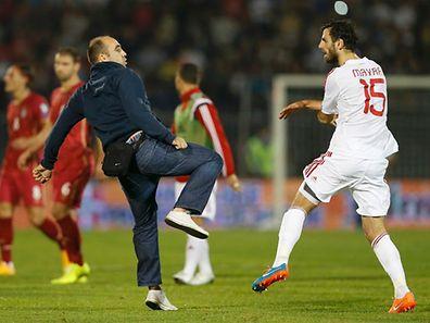 La sanction de l'UEFA est tombée après les graves incidents du 14 octobre dernier à Belgrade
