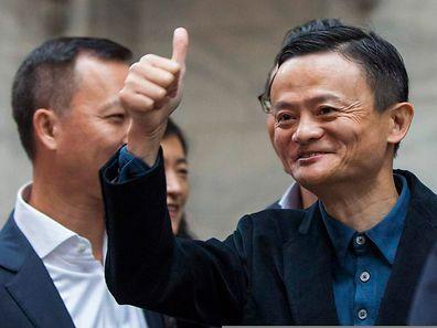 Alibaba-Gründer Jack Ma vermehrt sein Vermögen durch den Börsengang beträchtlich.