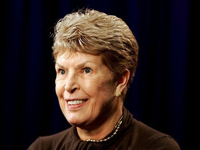 Author Ruth Rendell is interviewed by a reporter in New York City in this file photograph dated September 28, 2005