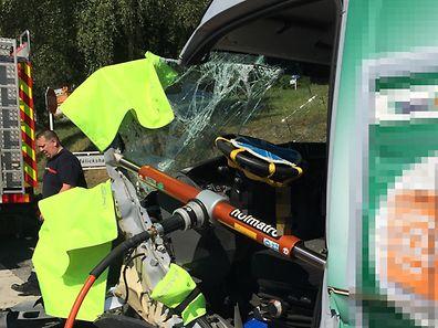 Le chauffeur a été désincarcéré par les pompiers