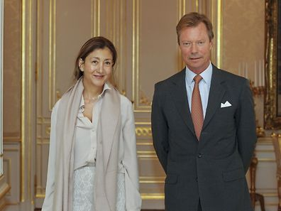 Ingrid Betancourt poses for a photo with Luxembourg Grand Duke Henri