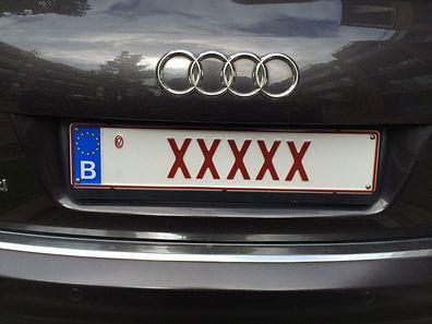 Solche Kennzeichen kosten 1000 Euro.