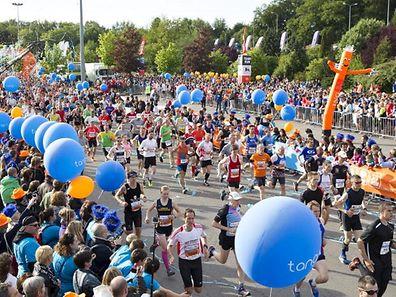 Der Nachtmarathon gleicht einem Volksfest.