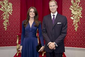 Stars bei Madame Tussauds: Kate und William. Foto: Garry Samuels