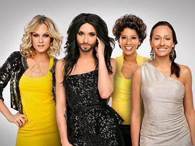 Das sind die Moderatorinnen für den Eurovision Song Contest.