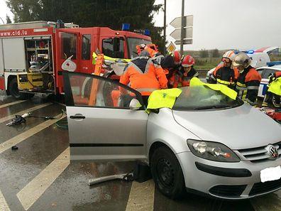 La violente collision s'est produite entre Dudelange et Bettembourg.