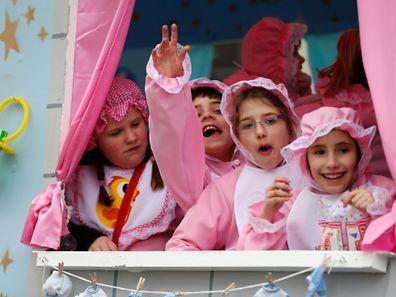 KannerKavalkad, Cavalcade des enfants, Kayl, Luxembourg, le 01 Mars 2015. Photo: Chris Karaba