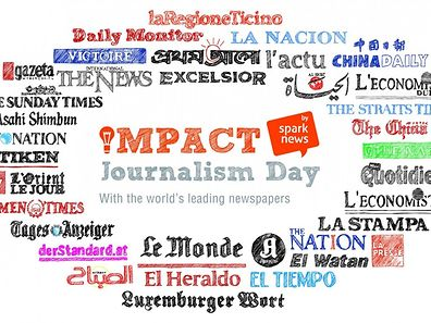 Participating newspapers worldwide in Impact Journalism Day