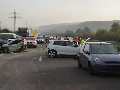 Horrific pile-up on the A13 motorway left one person dead and three seriously injured