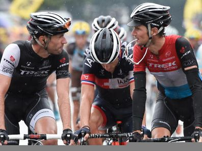 Jens Voigt (l.) and Fränk Schleck at this year's Tour de France