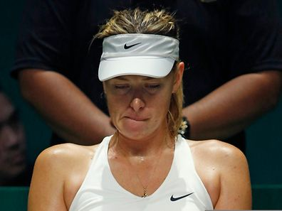 Maria Sharapova n'est pas vraiment à son affaire au Masters de Singapour