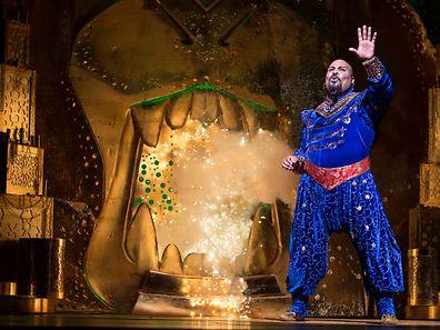 """Szene aus der New Yorker Fassung von """"Aladdin""""."""