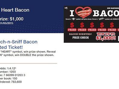 Das Los mit dem Bacon-Duft ist für einen US-Dollar erhältlich.