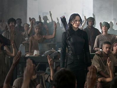"""The Hunger Games: Mockingjay"" machte sie zur Wiederstandsikone: Katniss Everdeen."