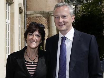 Anne Grommerch, maire UMP de Thionville, dont l'élection vient d'être annulée (ici à côté de Bruno Le Maire, UMP).