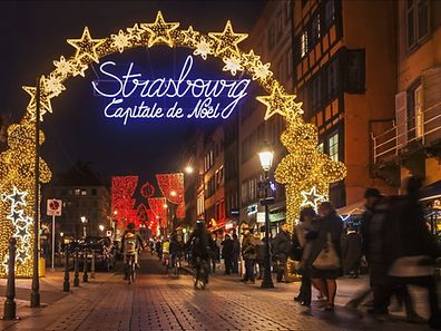 The 2015 Strasbourg Christmas market stars on November 27