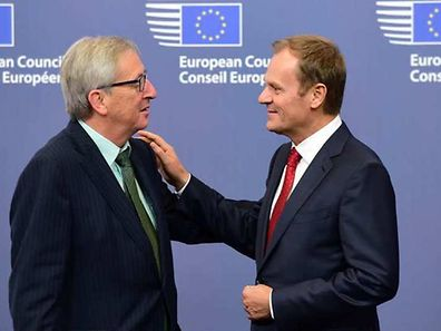 European Commission chief Jean-Claude Juncker and European Council President Donald Tusk
