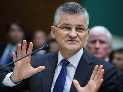 Volkswagens US-Chef Michael Horn hatte alle Mühe, den Politikern den Abgas-Skandal zu erklären.