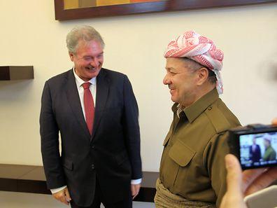 Jean Asselborn avec le Président de la région autonome du Kurdistan irakien, Massoud Barzani