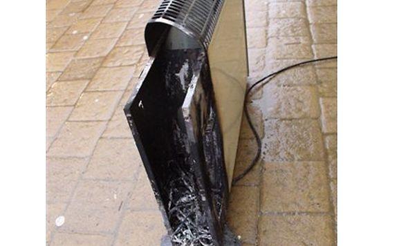 Durch den brennenden Elektroheizkörper hätte schlimmerer Schaden entstehen können.
