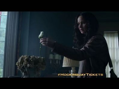 "Video screenshot: Katniss finds the unexpected in ""The Hunger Games: Mockingjay - Part 1"""
