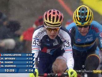 Christine Majerus à la fin du premier tour. A ce moment de la course, la Luxembourgeoise était encore devant la Belge Ellen van Loy