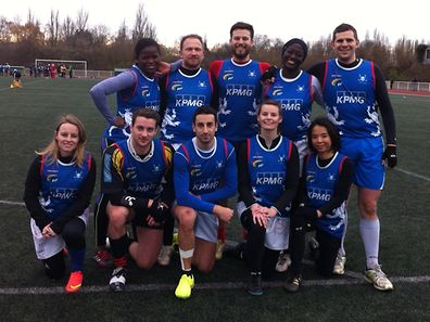 Luxembourg Touch mixed team at the Strasbourg Christmas tournament