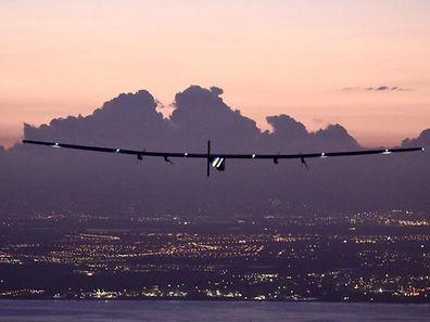 Der Sonnenflieger beim Anflug auf Hawai.