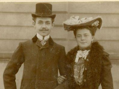 Albert Schergen mit seiner Ehefrau.