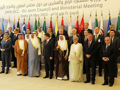 Jean Asselborn (front row - 2nd f.t.r.) at the EU-GCC meeting in Doha, Qatar