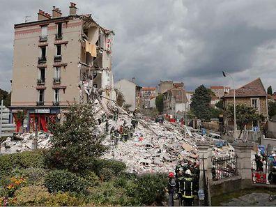 Sechs Menschen starben, als am Sonntag in Rosny-sous-Bois ein Wohnhaus einstürzte.