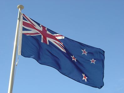 The current national flag of New Zealand