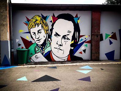 L'artiste italien Cheko's Art a croqué des plumes luxembourgeoises sur les murs de la Kufa.