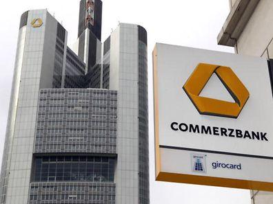 Headquarters of the German Commerzbank in Frankfurt, Germany.