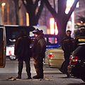 Polizei und ein Sprengstoffkommando untersuchten das verdächtige Auto.