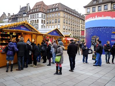 The Luxembourg Village at Strasbourg Christmas market