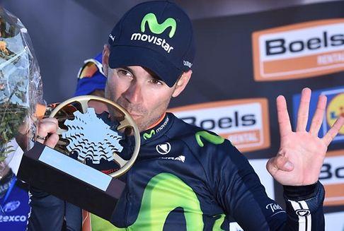 81e édition de la Flèche Wallonne : Alejandro Valverde dans son jardin