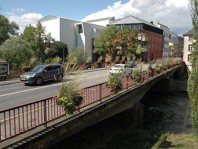 Die Alzettebrücke in Ettelbrück wenige Tage vor der Komplettsanierung (September 2014 bis April 2015)