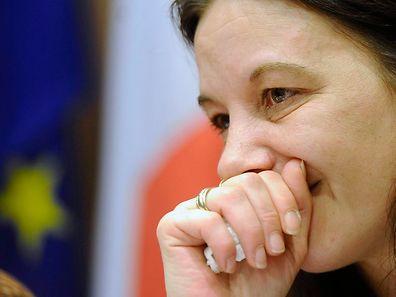 Sabine Atlaoui, l'épouse du Messin Serge Atlaoui, s'est exprimée devant les médias à l'ambassade de France de Jakarta ce jeudi 26 février.
