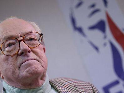 Le président d'honneur du FN, Jean-Marie Le Pen, le 23 mars 2014