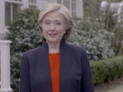 Hillary Clinton speaks in a video launching her bid for the 2016 Democratic presidential nomination in this still image taken from video released April 12, 2015. Clinton cast herself as a champion for everyday Americans on Sunday, kicking off her long-awaited second run for the White House with a vow to fight for a level playing field for those recovering from tough economic times.  REUTERS/Clinton Campaign Handout via Reuters TV THIS IMAGE HAS BEEN SUPPLIED BY A THIRD PARTY. IT IS DISTRIBUTED, EXACTLY AS RECEIVED BY REUTERS, AS A SERVICE TO CLIENTS. FOR EDITORIAL USE ONLY. NOT FOR SALE FOR MARKETING OR ADVERTISING CAMPAIGNS. NO SALES. NO ARCHIVES