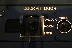 """A picture inside a flight simulator shows the door locking system of an Airbus A320 in Vienna on March 26, 2015. A co-pilot suspected of deliberately crashing a Germanwings jet into the French Alps on Tuesday has been identified as 28-year-old Andreas Lubitz. Announcing his details at a news conference on Thursday, Marseille prosecutor Brice Robin said he had no known links with terrorism.""""There is no reason to suspect a terrorist attack,"""" he said. Asked whether he believed the crash that killed 150 people was the result of suicide, he said: """"People who commit suicide usually do so alone....I don't call it a suicide.""""The German citizen, left in sole control of the Airbus A320 after the captain left the cockpit, refused to re-open the door and pressed a button that sent the jet into its fatal descent, the prosecutor told a news conference carried on live television         REUTERS/Leonhard Foeger     TPX IMAGES OF THE DAY"""